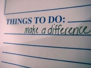 things to do make a difference