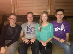 Daniel and his 3 older siblings