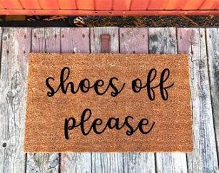 shoes off please